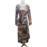 VSTAR Gamis Natural Abstract [62-136] - Yellow (V)
